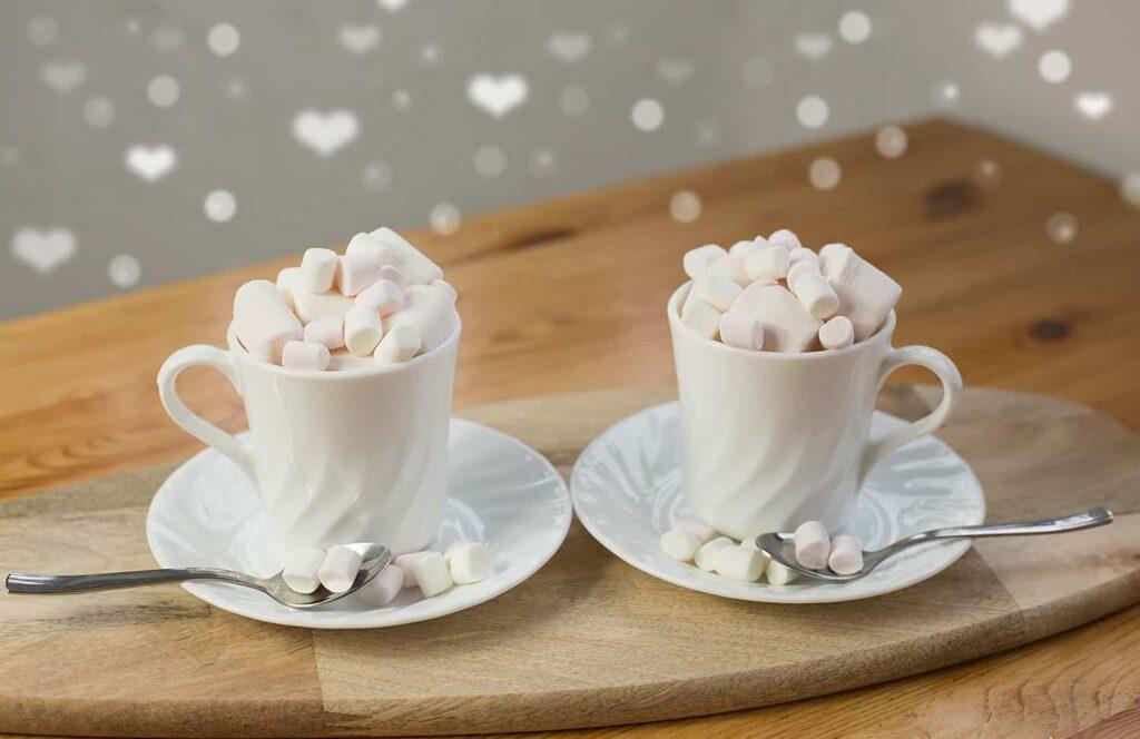 Latte macchiato zpiankami marshmallow