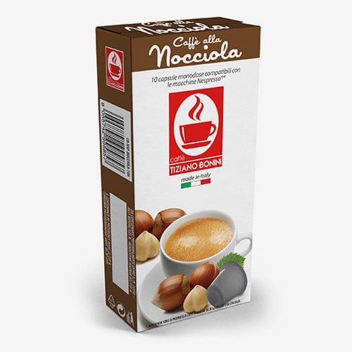 Bonini Nocciola (kawa aromatyzowana orzechowa) - kapsułki do Nespresso - 10 kapsułek